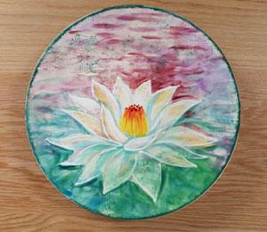 Oxnard Lotus Flower Plate