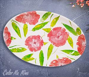 Oxnard Floral Paper Stamping
