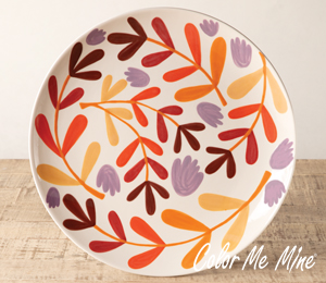 Oxnard Fall Floral Charger
