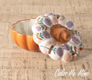 Oxnard Floral Pumpkin Box