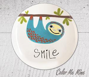 Oxnard Sloth Smile Plate