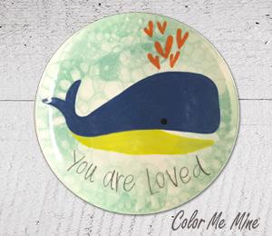 Oxnard Whale Love Plate