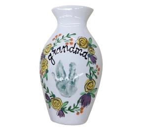 Oxnard Floral Handprint Vase