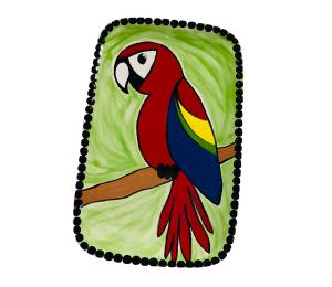 Oxnard Scarlet Macaw Plate